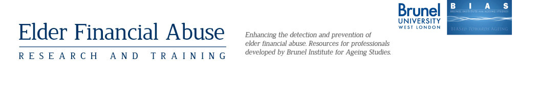 Elder Financial Abuse Header